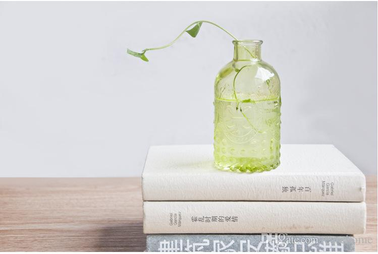 New simple style vase vintage vases glass vases in with plug for home wedding party decoration