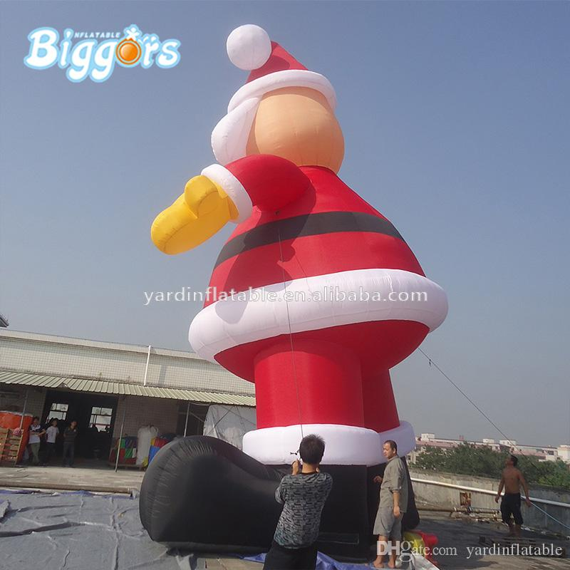 Factory Price Giant Outdoor Christmas Decorations Inflatable Santa Claus For Advertising