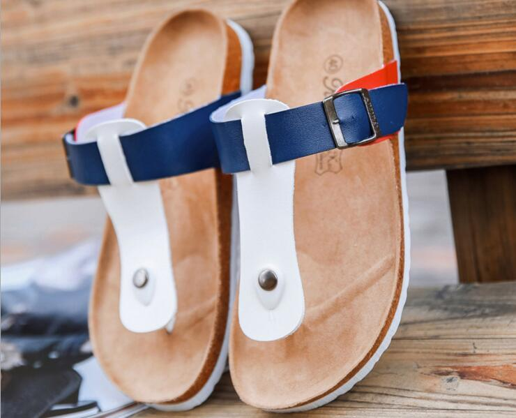discount comfortable Anti-skid slippers summer cork flip flops for men and women couple big yards flat sandals with sandals and slippers wide range of online free shipping for sale in China online cheap purchase AAI969bA9