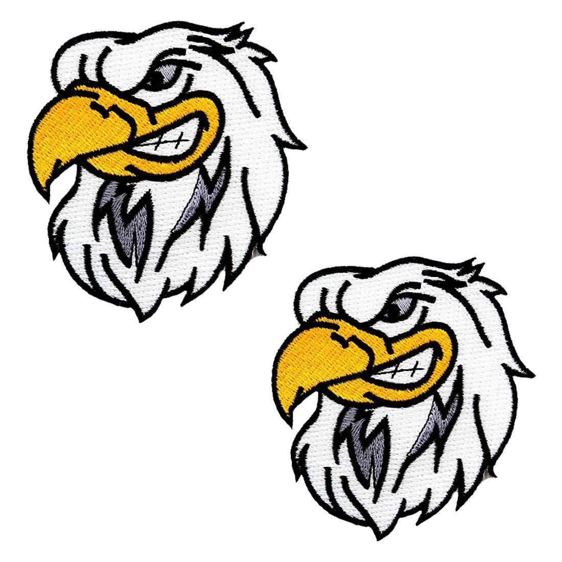 2017 Fashionable Design Cartoon Hot Sale Bald Eagle Embroidered Patch American Patriotic Iron-On Bird Emblem