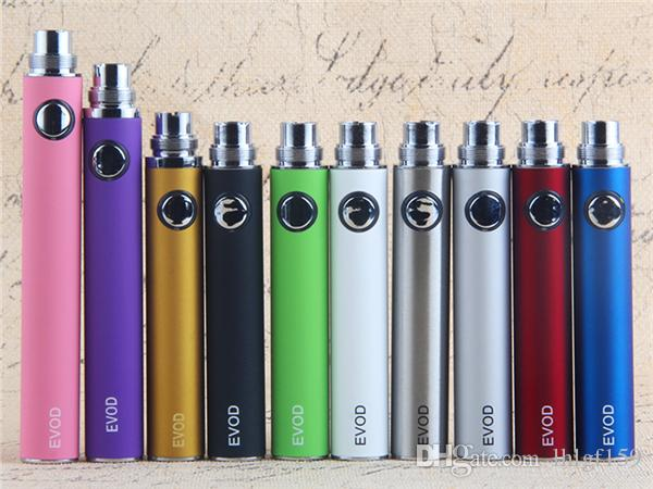 MOQ Vapes EVOD ecig batteries 650 900 1100 mah 510 vape battery electronic cigarette for cartridges ce4 atomizer