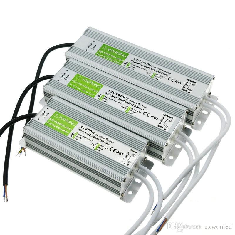 IP67 водонепроницаемый Светодиодный драйвер 12V 30w 45w 60W 100W 120W 250W Открытый Используйте трансформатор 110V-240V до 12V Источник питания Underwater Light