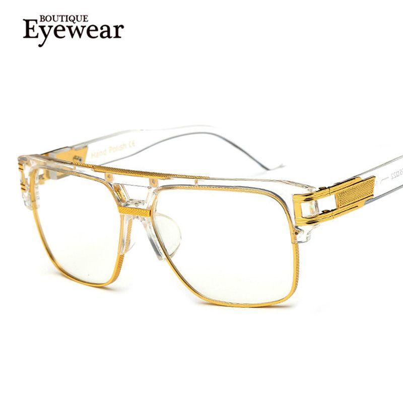11640932f6 Wholesale- BOUTIQUE Fashion Women Semi-Rimless Retro Eyeglasses Men ...