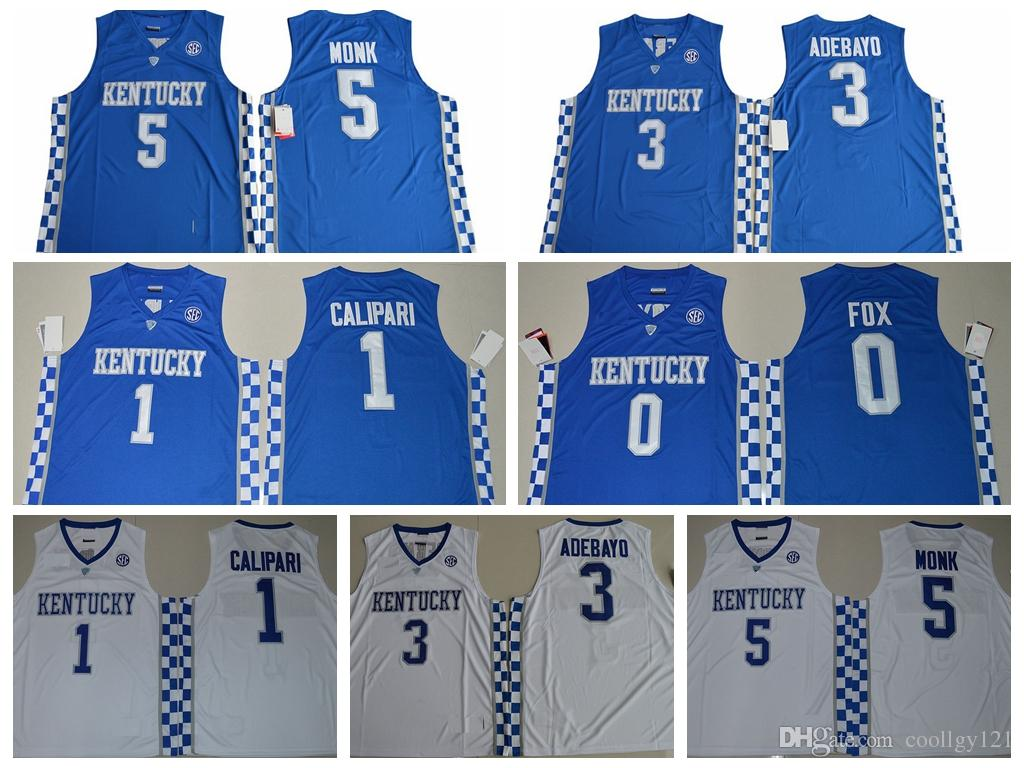c1480bfa3e0 ... 2017 kentucky wildcats college basketball jerseys 5 malik monk jersey 3  edrice adebayo shirt 1 coach