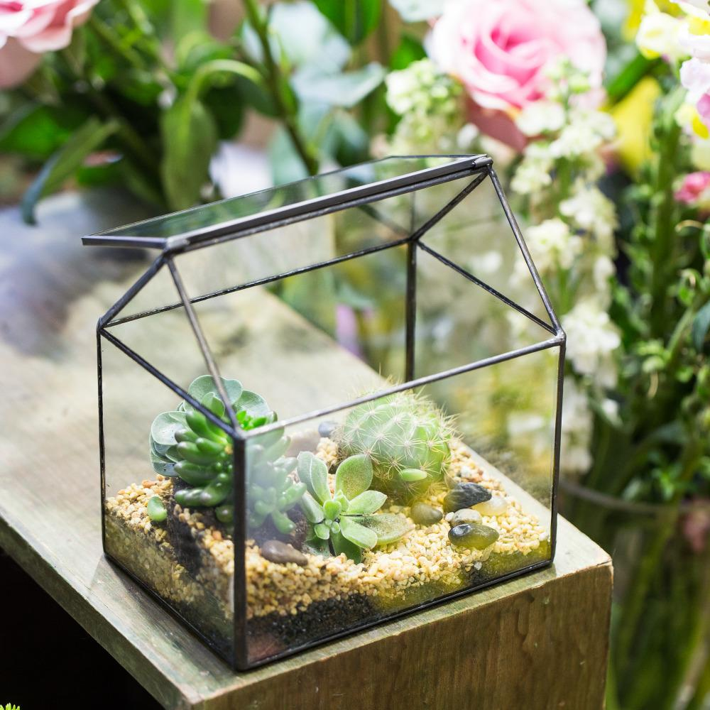 2018 cheap flower pots amp planters house shape geometric 2018 cheap flower pots amp planters house shape geometric terrarium glass indoor planter tabletop bonsai flowerpot glass cube from deniaiwo1314 izmirmasajfo
