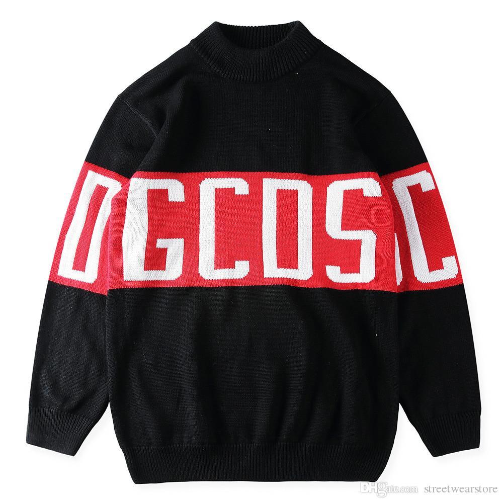 GCDS Sweaters Men Shark Hip Hop Fashion Pullover Women Sweaters Long Sleeve  Logo Gcds Hotline Anime Skateboard Sweater Coats Online with $49.15/Piece  on