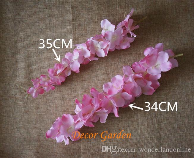 Artificial Hydrangea Wisteria Blume für DIY Hochzeits-Bogen Hintergrund Platz Rattan Wand hängenden Korb Kann Erweiterung Be