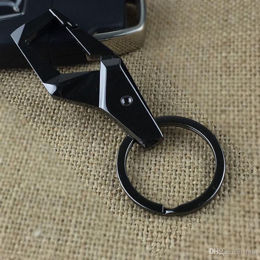 Key Fob Keychain >> Black Silver Cool Men S Keyfob Keychains Car Keyring Key Chain Ring