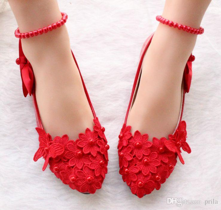 competitive price bec5e 2745d Rote Farbe Spitze Rosa Schuhe Frau Mode Knöchel Friesen elastischen Riemen  weibliche Tanzschuhe Ball Schuhe DG164 benutzerdefinierte machen ...