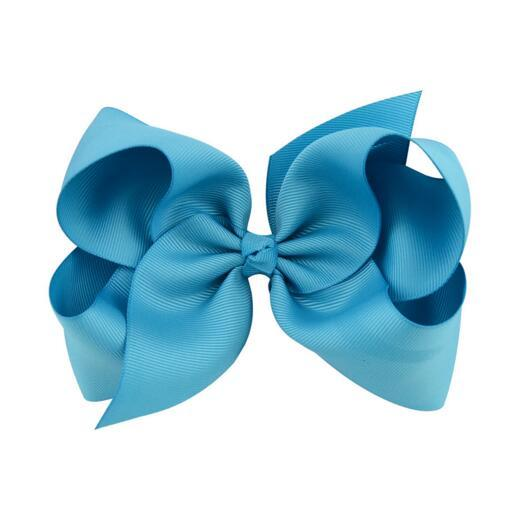 Baby Hair Bow Clip Hair Bows Baby Hairbows Headband Big Ribbon Bows Baby Girls Children Hair Accessories with Clip 6 Inch Wholesale