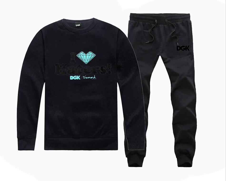 H98852078 Heißer verkauf DGK Sweatshirts + HOSEN anzug für Männer Fleece Gefüttert Hip Hop Skateboard Crewneck hoodies S-5XL