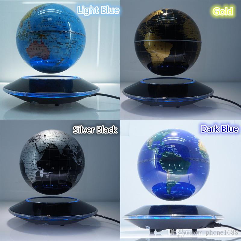 Magnetic floating globe with world map suspended in air rotating 6 magnetic floating globe with world map suspended in air rotating 6 inch ball desk display base attractive and fashion magnetic floating globe globe with gumiabroncs Gallery