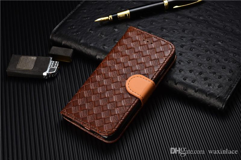 Smart Phone Covers lattice Genuine Leather For Apple iphone 6 plus case cell phone cases covers for iPhone6 5.5 inch