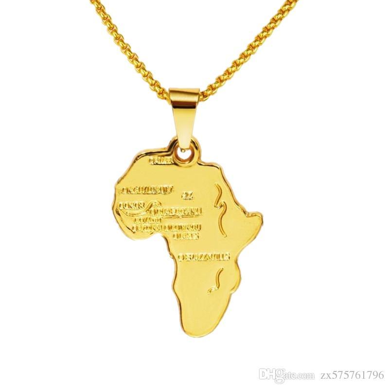 Wholesale fashion mens map pendant necklace 18k gold plated chains wholesale fashion mens map pendant necklace 18k gold plated chains punk rock micro rap hip hop custom jewelry accessories with men gift best friend aloadofball Gallery
