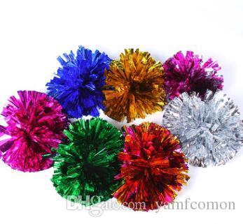 الحدث إمدادات حزب بوم بومس التشجيع 50G الهتاف منتجات المعدنية pompom العديد من الألوان للاختيار الخاص بك