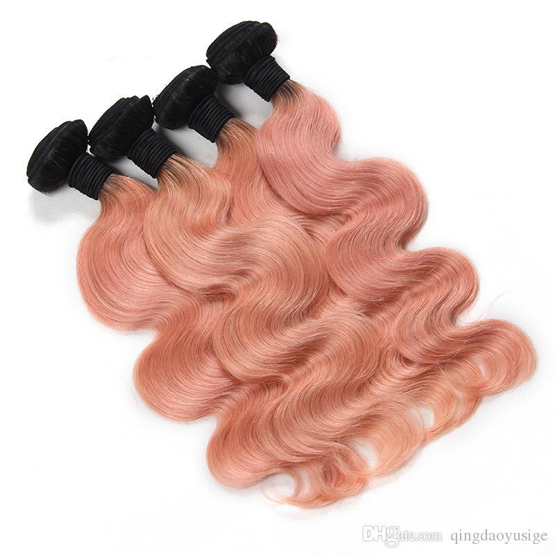1bpink Bodywave Hair Weft Brazilian Hair Weave Summber Style Omber