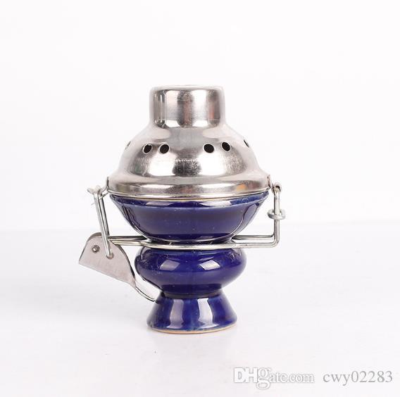 Новый большой дым чаша лобовое стекло кальян аксессуары керамический горшок уголь горшок из нержавеющей стали анти