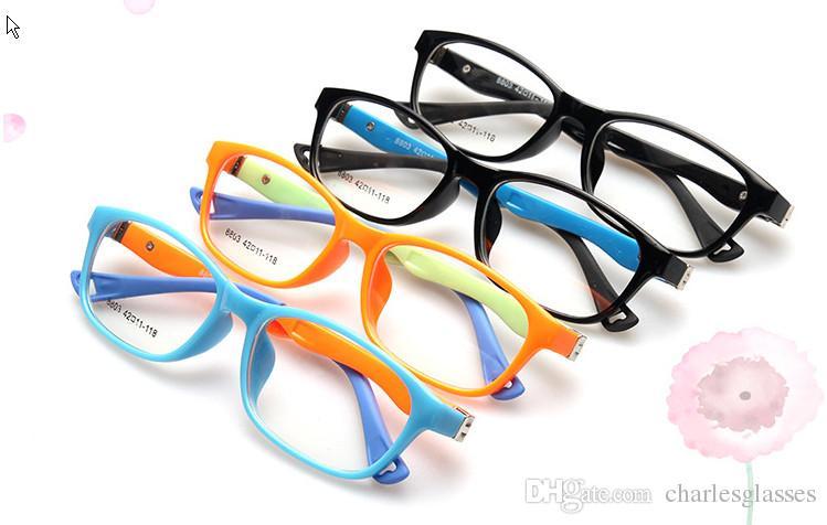 /  arbeiten Plastikkinder optische Rahmenkindbrillen für Verordnung viele Farben Mischauftrag 8803 um
