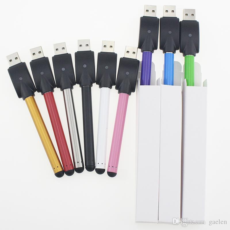 CE3 bateria Bud Battle Bateria O Pen CE3 280mAh E-Cig 510 fios aptos para cartuchos de óleo de cera bateria de vaporizador + USB + caixa branca