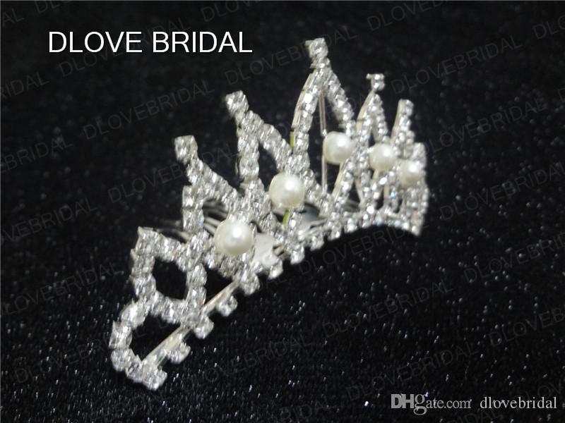 Real Photo Bridal Crown Wedding Crystal Rhinestone Pearls Hair Accessory Sydney Bridal Comb Tiara Bridal Accessories with Best Price
