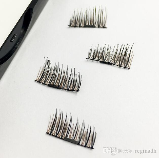 DIY Single magnetic false eyelash colors plastic magnetic eyelashes buckle without glue multi-layer natural Magnetic Eye Lashes