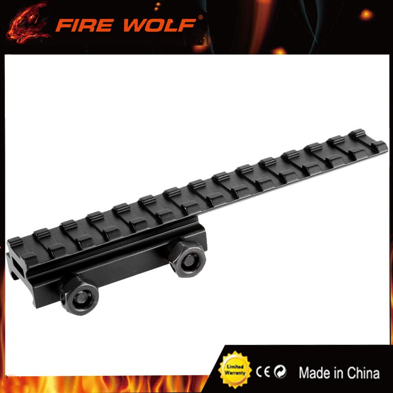 FIRE WOLF 20mm Tactical Picatinny Weaver Rail Scope Extension D0026 QD Long Riser Mounts Base Adapter Converter For Hunting