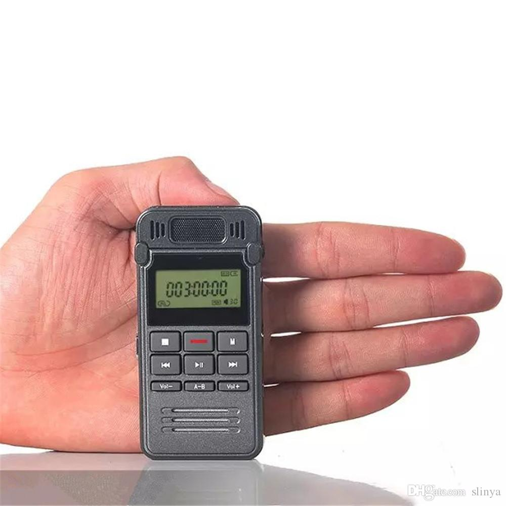Multi Function Display LCD 8GB Digital Voice Recorder Uscita audio USB Lettore MP3