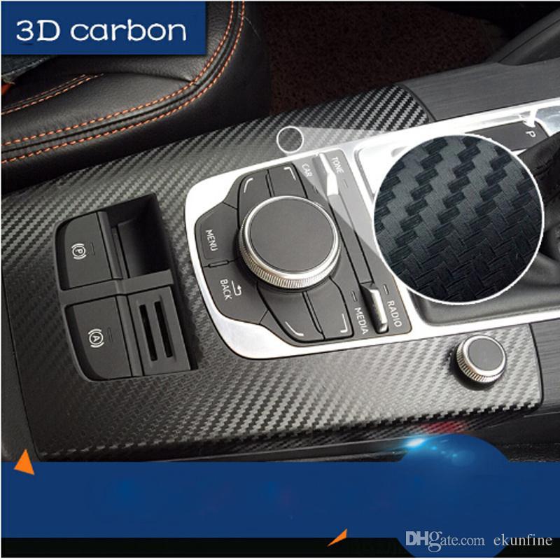 127 CM * 30 CM 127 cm * 50 cm 152 cm * 30 cm 152 cm * 50 cm Estilo de coche Etiqueta engomada impermeable del coche 3D Película de vinilo de fibra de carbono envoltura DIY Etiqueta de parte de tuning coche