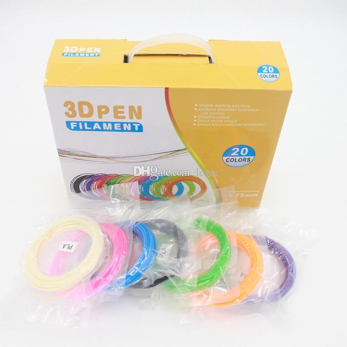 Wholesale pla 3d printer filament 1.75mm ABS 5m 10m cable universal print pen