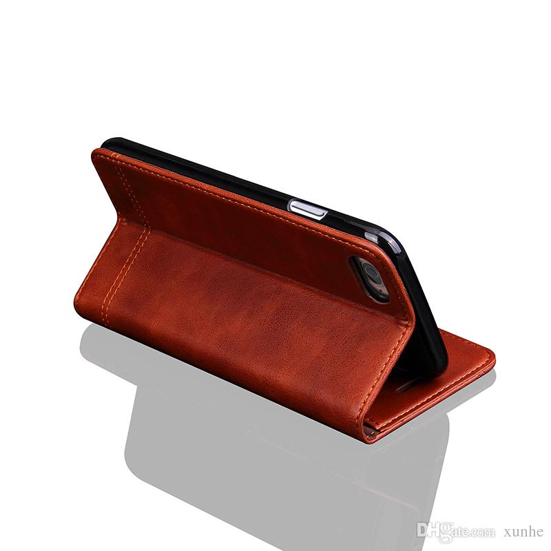 Wallet leather case for iphone cellphone case for iphone7 7plus 6 6s 6plus 6s plus for samsung s7 s7edge flip case with magnetic