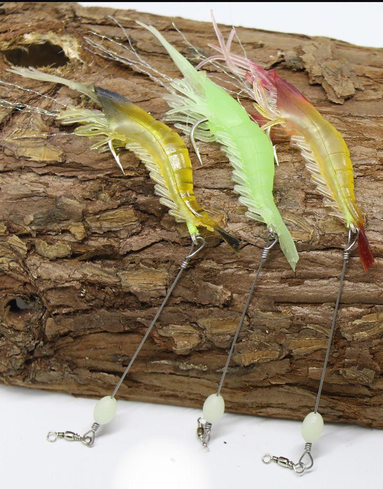 9 cm / 5.4g Biyonik Karides Karides Cazibesi Yumuşak Yem Balıkçılık Kanca ile Pratik Balıkçılık Lures Gerçekçi Mücadele