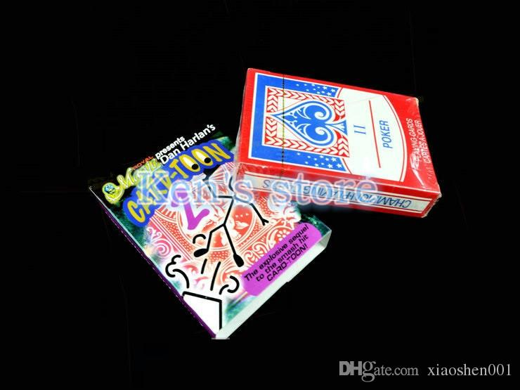 Card-toon Cartoon Magic Cards Deck v2 Playing Card Poker Close Up Magic Tricks for Professional Magician Animation Puzzle Toys