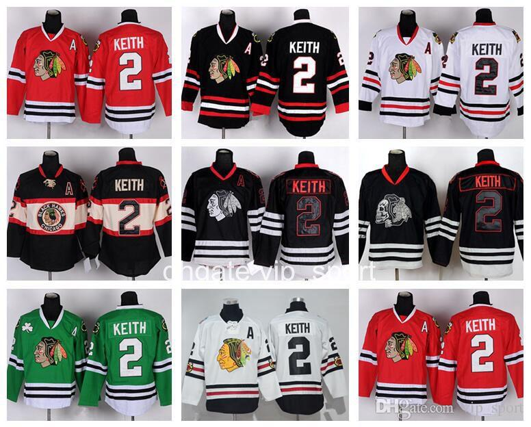 Chicago Blackhawks 2 Duncan Keith Jersey Throwback Winter Classic Skull Duncan  Keith Hockey Jerseys Stitched Black Ice Red White Green Duncan Keith Jersey  ... ce3b854f4