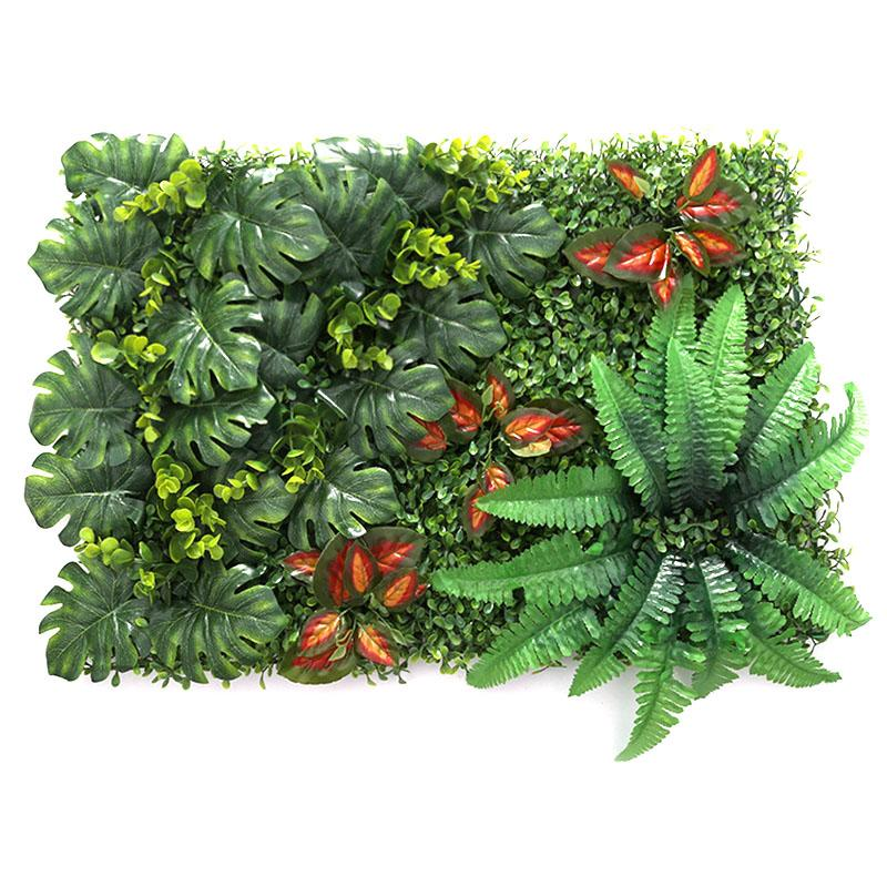 60x40 Cm Diy Artificial Plant Wall Banana Leaves Eucalyptus Clover