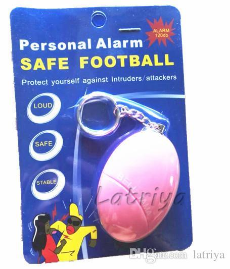 Renkli taşınabilir 120db Kişisel alarm zili tama Anti Hırsızlık Alarm Güvenlik Güvenlik Panik Anahtarlık