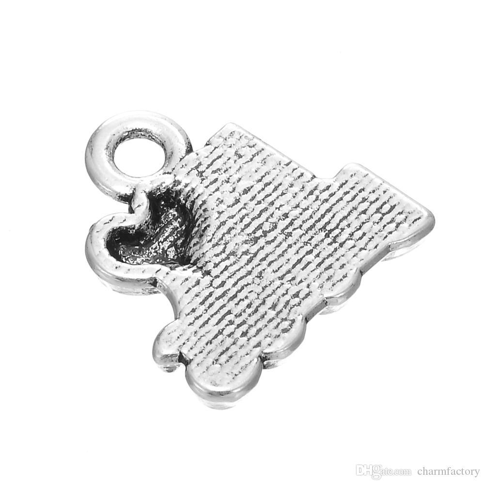 J'AIME LES CHIENS Avec le coeur Message Charme DIY CollierBracelet antique plaqué argent Bijoux de mode /