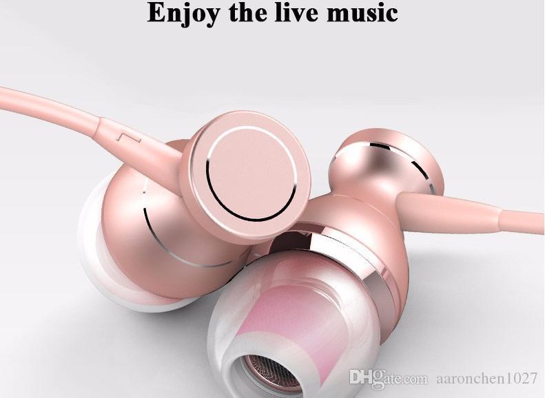 In-Ear-Kopfhörer-Headset In-Line-Steuerung magnetische Klarheit Stereo-Sound mit Mikrofon Kopfhörer für iPhone 7 7 plus Handy MP3 MP4