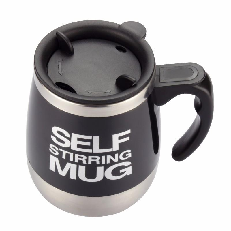 Hot Selling Self Stirring 450 ML Automatic Electric Coffee Cup Smart Stainless Steel Mugs Perfect Souveni Mixing Coffee Tea Cup