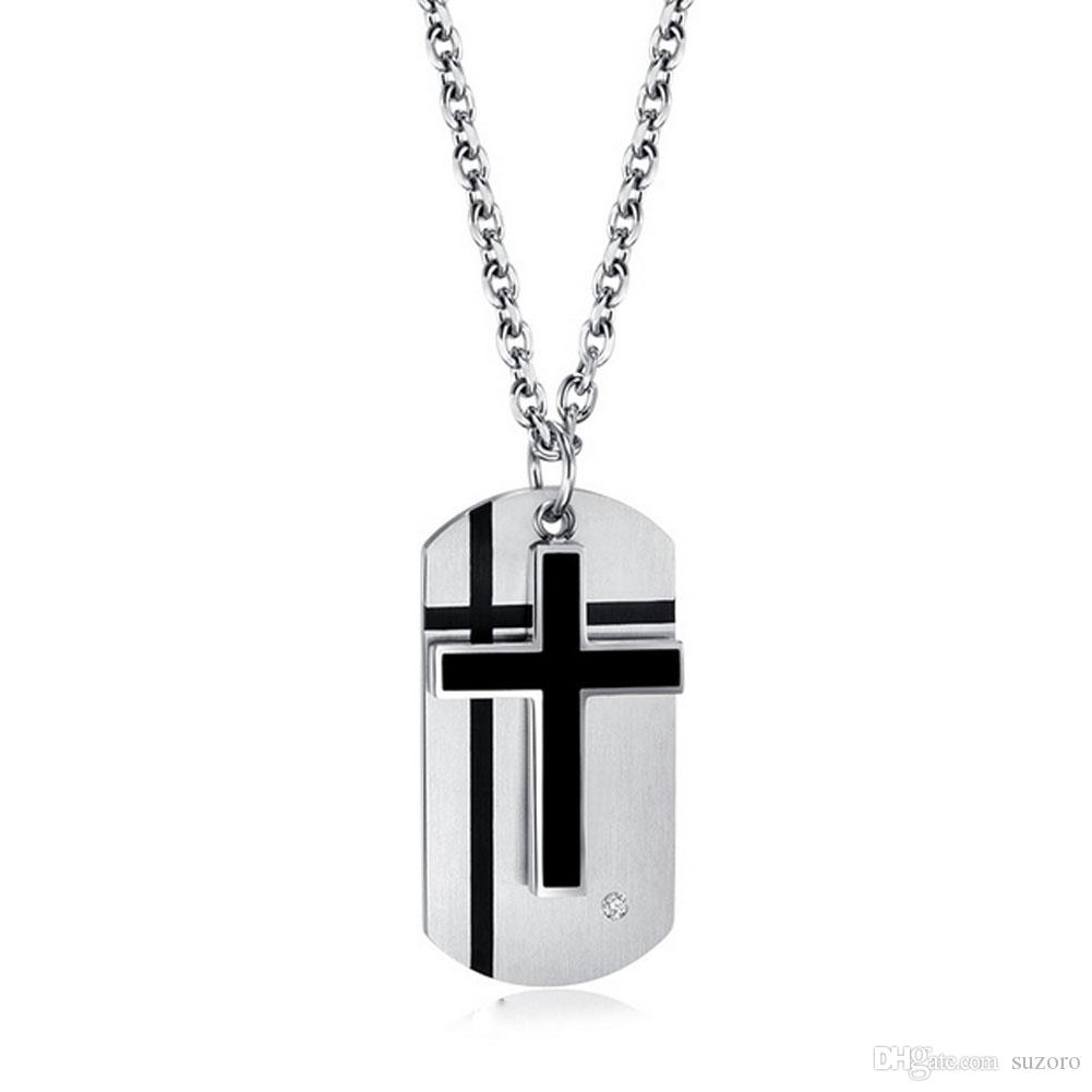 Wholesale titanium cross pendant metrosexual combo necklace pendant wholesale titanium cross pendant metrosexual combo necklace pendant new mens personality charm necklace pendants from suzoro 503 dhgate aloadofball