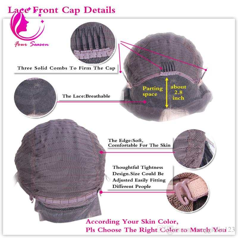 Glueless Virgin Brazilian Wavy Short Cut Human Hair Lace Front Wigs Full Lace Wigs For Black Women Bob Style wig