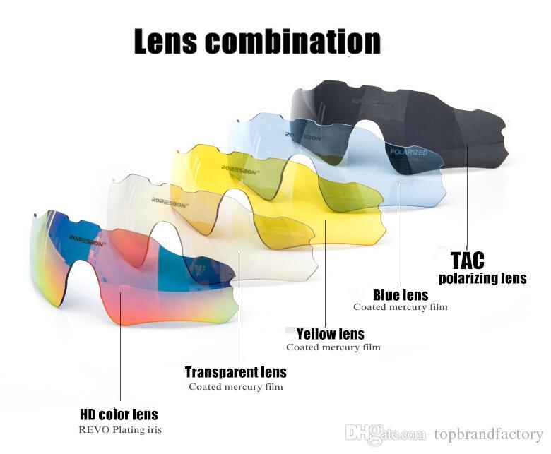 Homens polarizados ev Ciclismo SunGlasses / MTB Mountain Bike Goggles / 5 Lens Ciclismo Eyewear Bicicleta Sunglasses Cycling glass