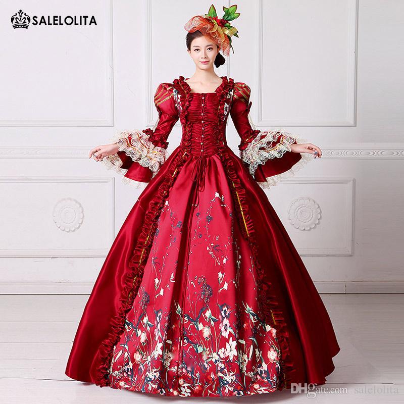Acheter 2017 Marque New Red Lace Imprimé Marie Antoinette Dress Southern  Belle Époque Victorienne Ball Reebok Femme Vêtements De  116.76 Du  Salelolita ... cf40abafda2