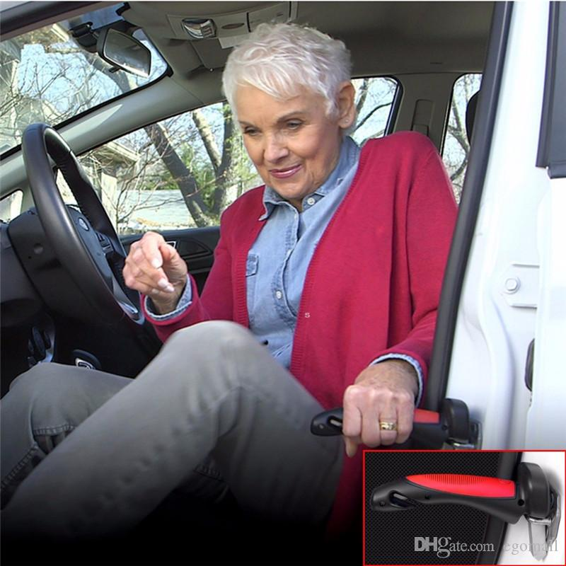 Poignée de voiture portable Support de canne Auto Assist Grab Bar Outil de marteau d'évasion d'urgence de véhicule avec le briseur de fenêtre et le coupeur de ceinture de sécurité