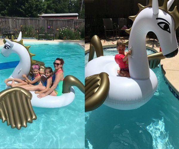 عملاق نفخ بيغاسوس بركة تعويم كبير في الهواء الطلق بركة سباحة floaties صالة لعبة للكبار الاطفال الفقراء حزب زينة