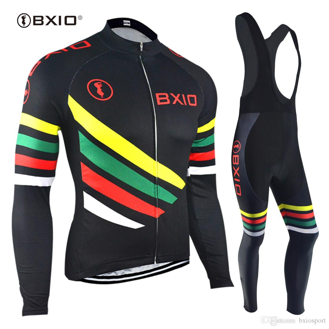 BXIO Cycling Jersey Long Sleeve Set Winter Fleece Bicycle Jersey Autumn Pro  Team Cycling Clothing Ropa Ciclismo Invierno BX 108 Cycle Clothing Sale Mens  ... 17501b3d7