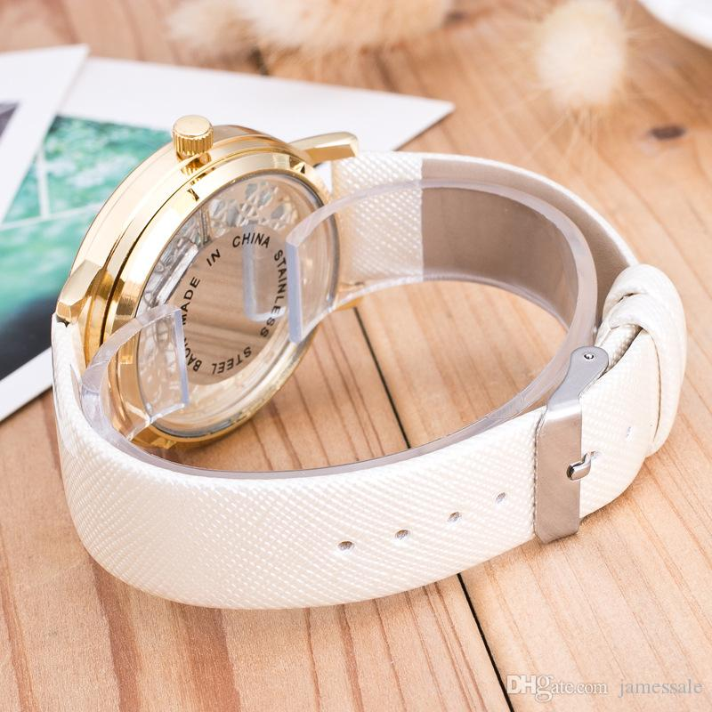 Wholesale and Popular fashion Hot style ms han edition men's watch double-sided hollow-out the mechanical watch students leisure leather