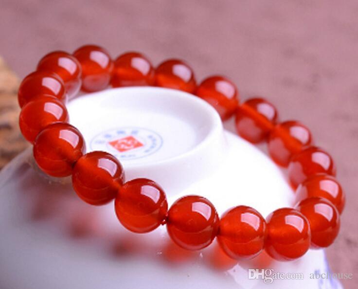 Genuine Natural Red Agate Pulseira Feminino Cristal Vermelho Ágata Pulseiras Valentine Estrela com dinheiro para enviar sua namorada frete grátis