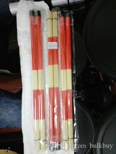 of Jazz Drum Brushes Red Rubber Handle with White Nylon Drum Brush