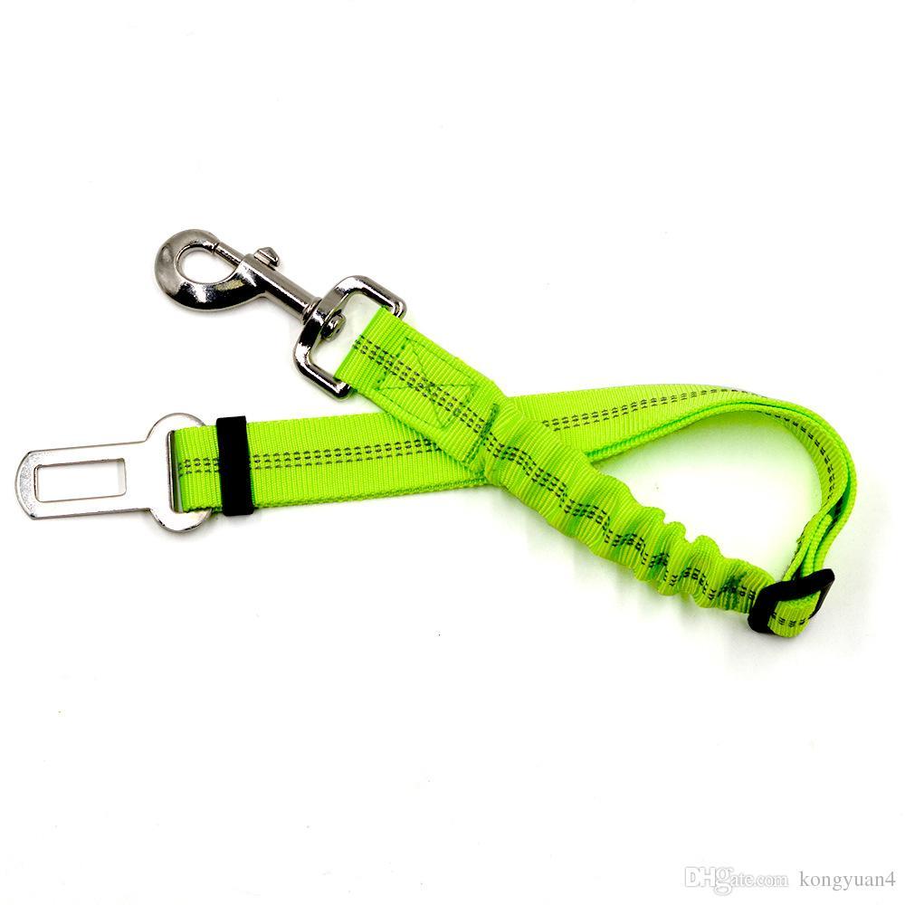 Einstellbare Haustier Hund Auto Sicherheitsgurt Sicherheitsleinen Fahrzeug Sicherheitsgurt Harness, mit Elastischen Bungee Buffer, Reflektierende Nähte, Stress-Univer