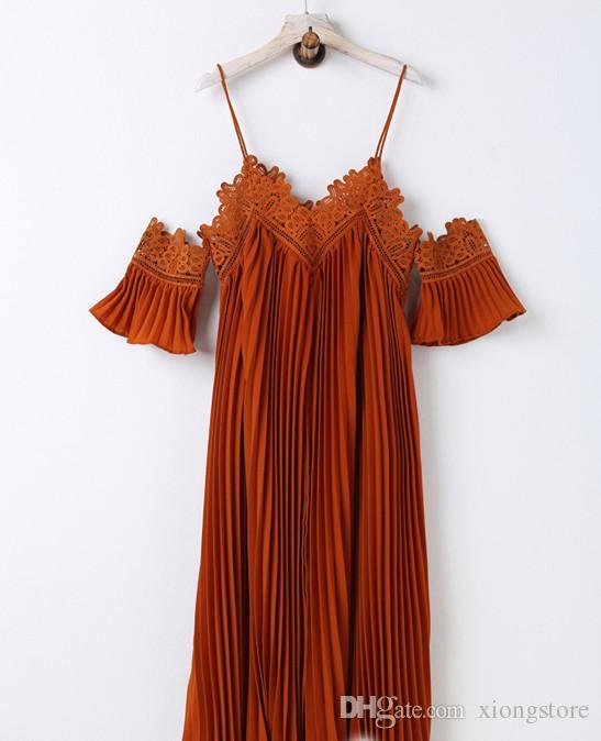 мода оранжевый 2019 новый осень макси длинный винтажный стиль плиссированные платья женские горячие продажи элегантный ремень длинные платья спинки праздничное платье